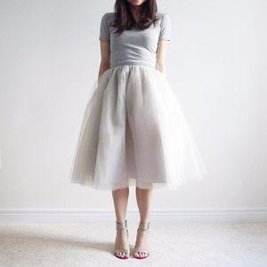 BNWT Bluish Celine tulle skirt